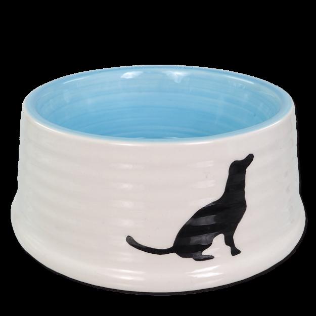 Miska DOG FANTASY keramická motiv pes bílo-modrá 16 cm 0,44l