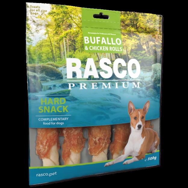 Pochoutka RASCO Premium tycinka buvolí obalená kurecím masem 500g