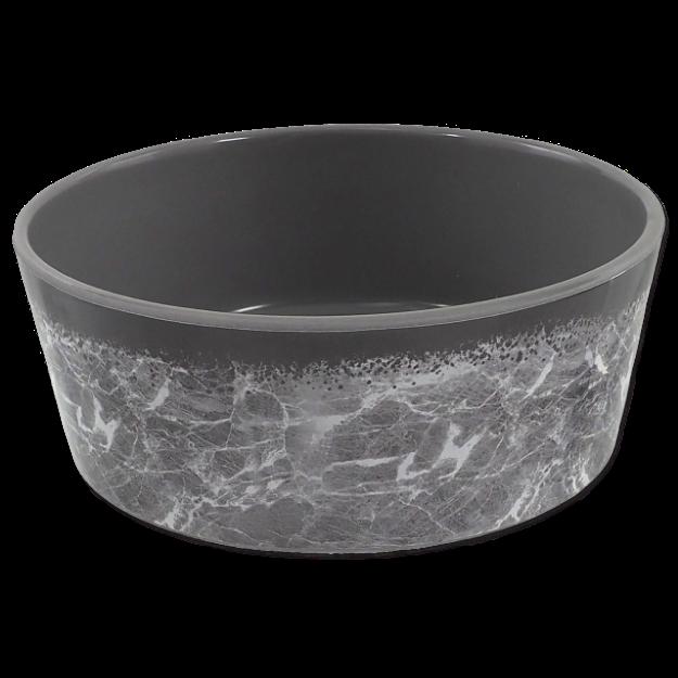 Miska DOG FANTASY vzor mramor šedá 15 cm 0,5l