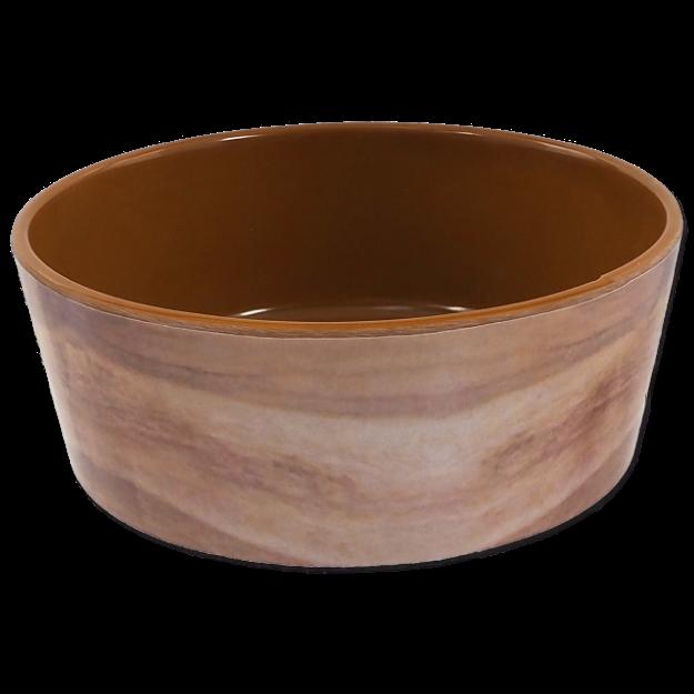 Miska DOG FANTASY vzor drevo hnedá 15 cm 0,5l