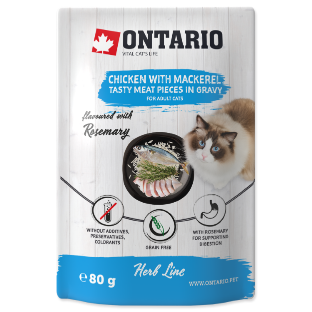 Picture of Ontario Herb - Chicken with Mackerel, Rice and Rosemary 80g