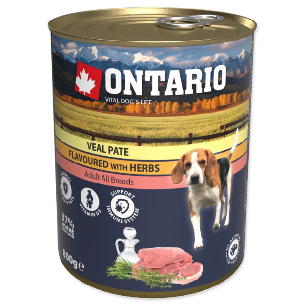 Picture of Konzerva ONTARIO Dog Veal Pate Flavoured with Herbs